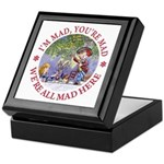 We're All Mad Here Keepsake Box