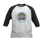 We're All Mad Here Kids Baseball Jersey