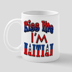 Kiss me Im Haitian Mugs