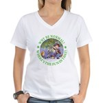 Why Be Normal? Women's V-Neck T-Shirt