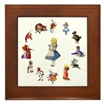 All Around Alice Framed Tile