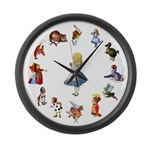 All Around Alice Large Wall Clock