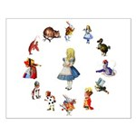 All Around Alice Small Poster