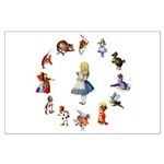 All Around Alice Large Poster