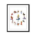 All Around Alice Framed Panel Print