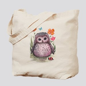 Purple Portly Owlet Tote Bag