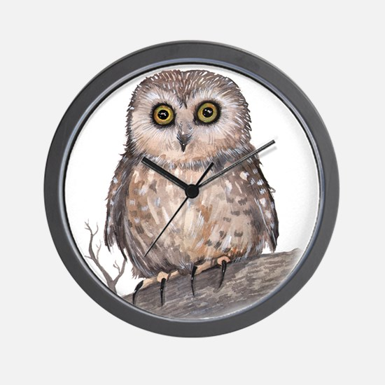 Wide Eyed Owl Wall Clock