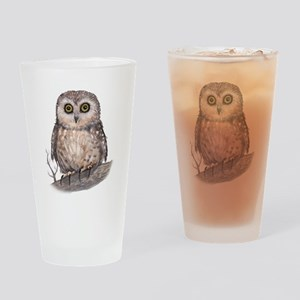 Wide Eyed Owl Drinking Glass
