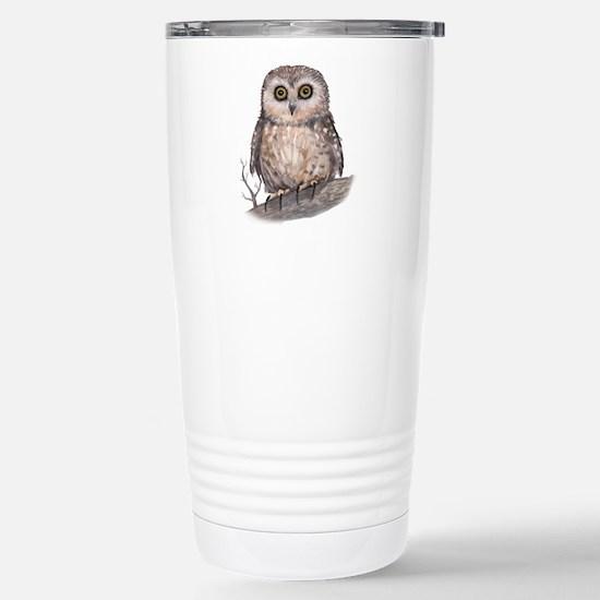 Wide Eyed Owl Stainless Steel Travel Mug