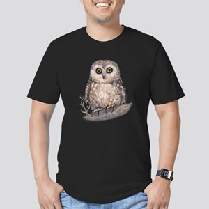 Wide Eyed Owl Men's Fitted T-Shirt (dark)