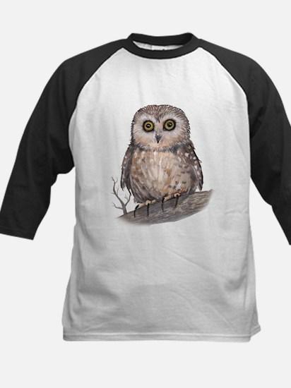 Wide Eyed Owl Kids Baseball Jersey