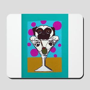Fawn Pug Martini II Mousepad