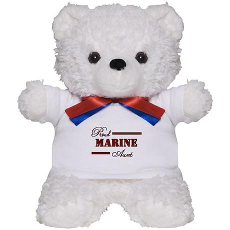 Proud Marine Aunt Teddy Bear