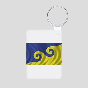Dream Flag Aluminum Photo Keychain