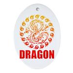 Tribal dragon 2 Ornament (Oval)