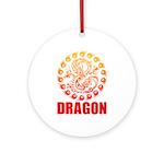 Tribal dragon 2 Ornament (Round)