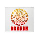 Tribal dragon 2 Throw Blanket
