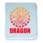 Tribal dragon 2 baby blanket