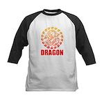 Tribal dragon 2 Kids Baseball Jersey