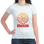 Tribal dragon 2 Jr. Ringer T-Shirt