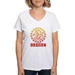 Tribal dragon 2 Women's V-Neck T-Shirt