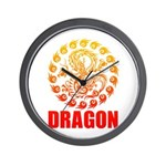 Tribal dragon 2 Wall Clock