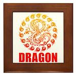 Tribal dragon 2 Framed Tile
