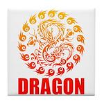 Tribal dragon 2 Tile Coaster