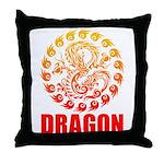 Tribal dragon 2 Throw Pillow