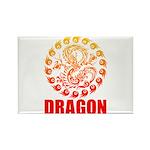 Tribal dragon 2 Rectangle Magnet (100 pack)