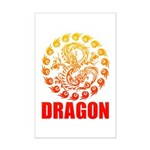 Tribal dragon 2 Mini Poster Print