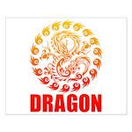 Tribal dragon 2 Small Poster