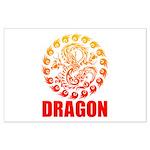 Tribal dragon 2 Large Poster