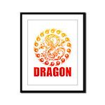 Tribal dragon 2 Framed Panel Print