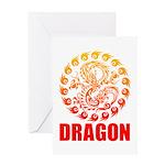 Tribal dragon 2 Greeting Card