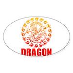 Tribal dragon 2 Sticker (Oval 10 pk)