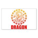 Tribal dragon 2 Sticker (Rectangle)