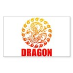Tribal dragon 2 Sticker (Rectangle 50 pk)