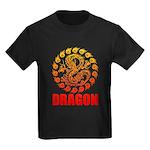 Tribal dragon 2 Kids Dark T-Shirt