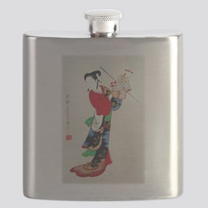 Woman with Puppet Flask