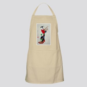 Woman with Puppet Light Apron