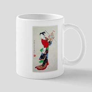 Woman with Puppet 11 oz Ceramic Mug