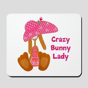 Customizable: Bunny Lady Mousepad