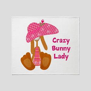 Customizable: Bunny Lady Throw Blanket