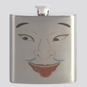 Japanese Noh Mask Flask