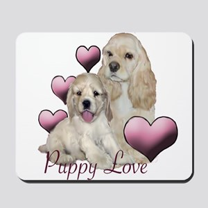 cocker spaniel puppy love Mousepad