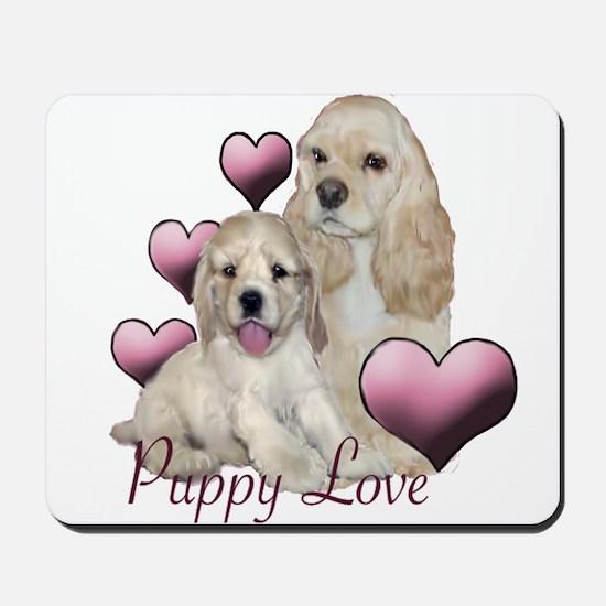 cocker spaniel puppy love Mousepad