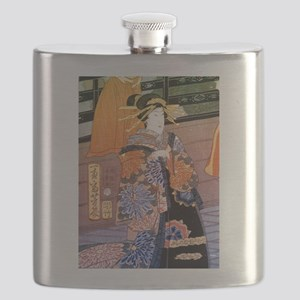 Japanese Noble Woman Flask