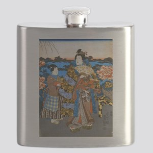 Lady and Servant Flask