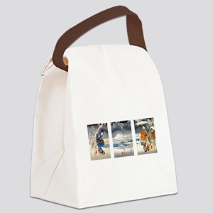 Viewing the Snow Triptich Canvas Lunch Bag